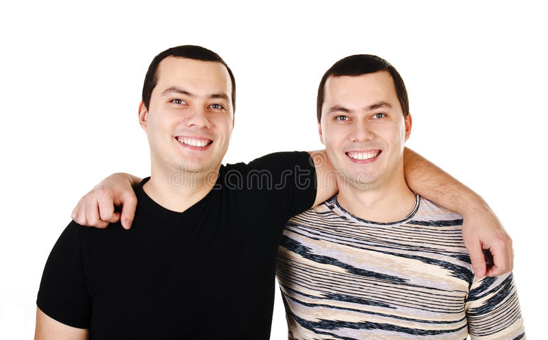 Download Two Attractive Positive Smiling Young Men Twins Isolated Stock Photo - Image: 29243334