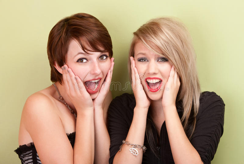 Download Two Attractive Teen Girls Screaming Stock Photo - Image: 22448280