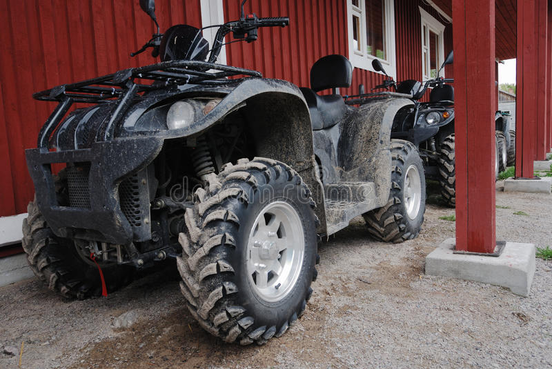 Two ATVs outdoor