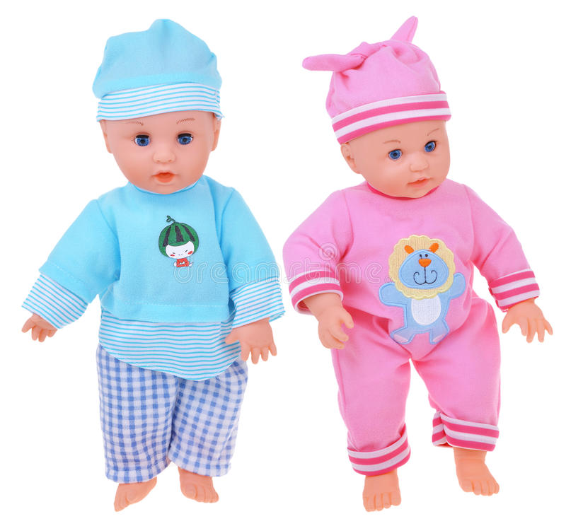 Two baby dolls royalty free stock photography
