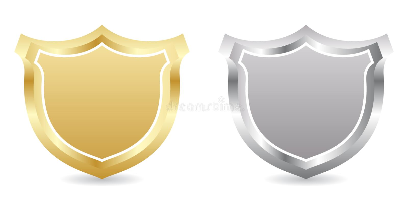 Two badges stock illustration