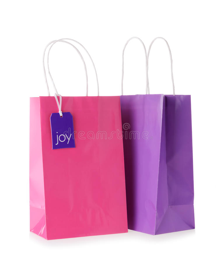 Download Two bags stock photo. Image of carry, package, pink, sale - 27037128
