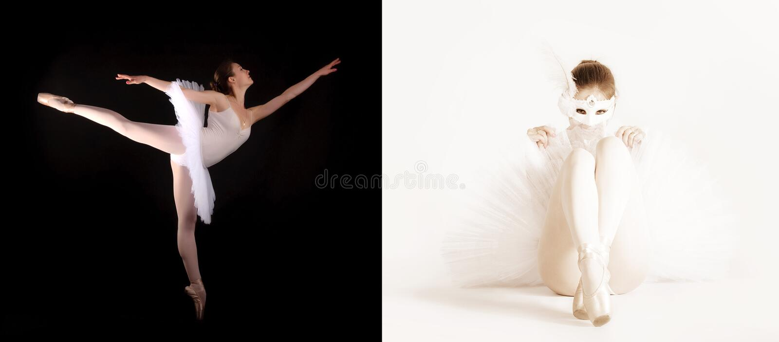 Download Two Ballerinas In A High Key And Low Key Stock Image - Image: 23172675