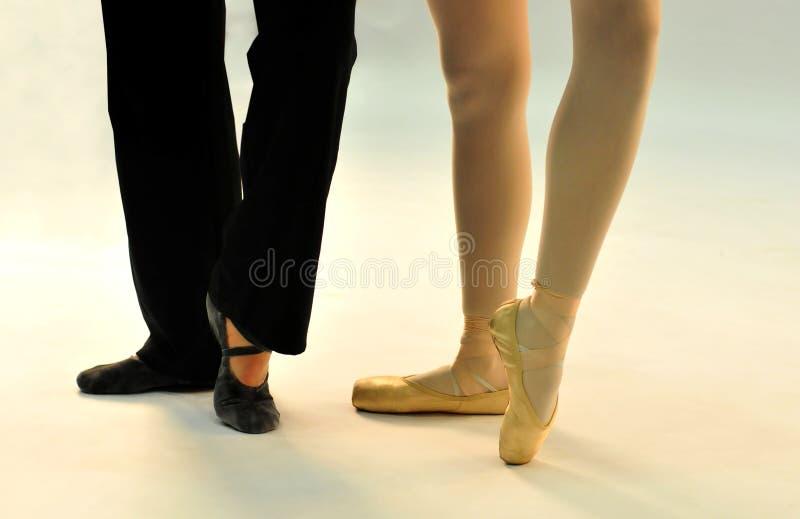 Two Ballet Dancers Posing Royalty Free Stock Photos