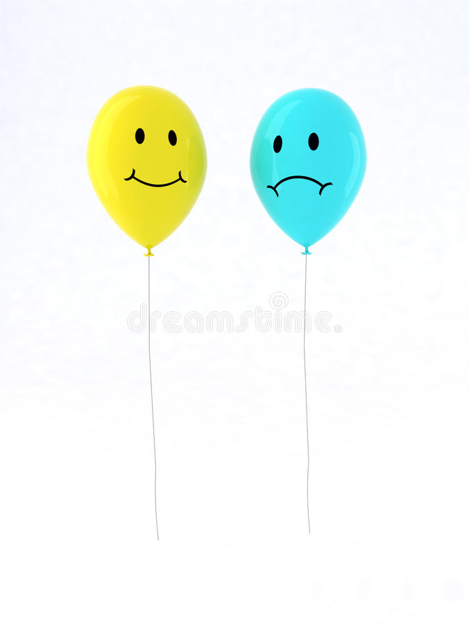 Download Two balloon with emoticons stock illustration. Image of object - 17123032