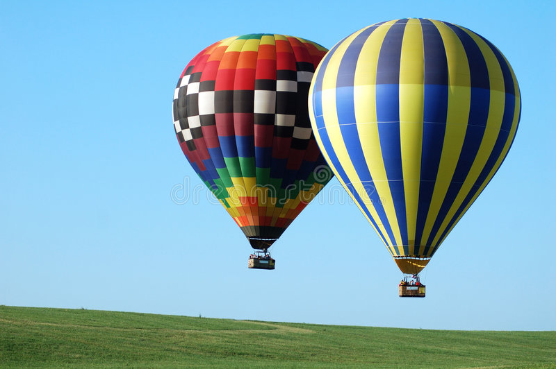 Two balloons horizontal stock image