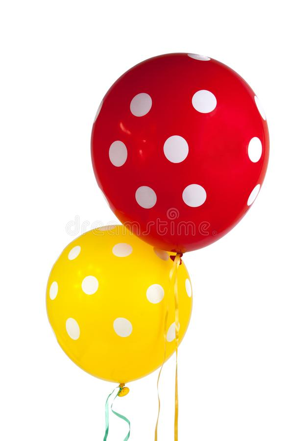 balloon with white dots isolated stock photos