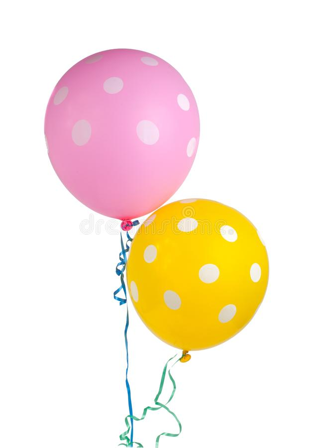balloon with white dots isolated royalty free stock photo