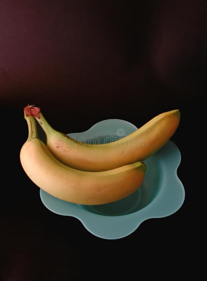 Download Two bananas on a blue dish stock photo. Image of taste, fruit - 11116