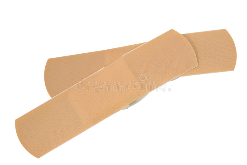 Two Bandaids royalty free stock images