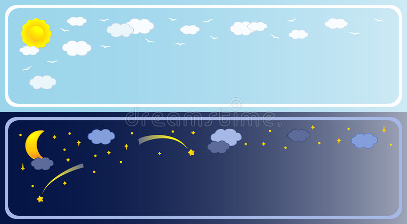 Download Two banner of sky stock vector. Image of climate, heaven - 5404470