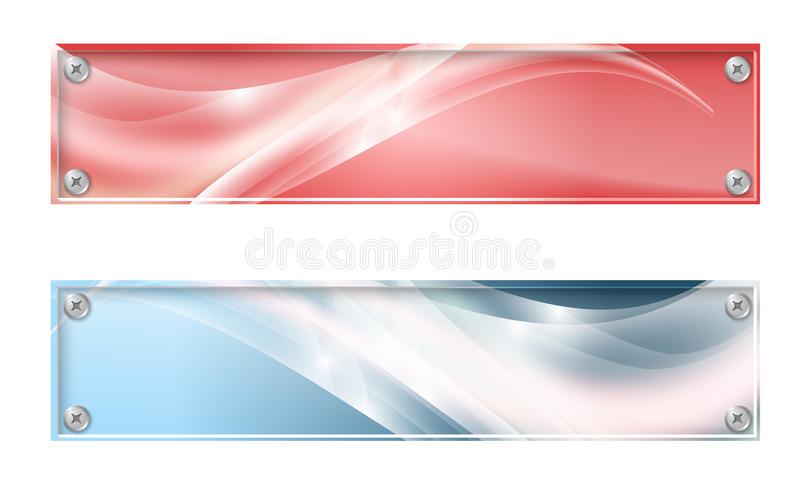 Two banners vector illustration