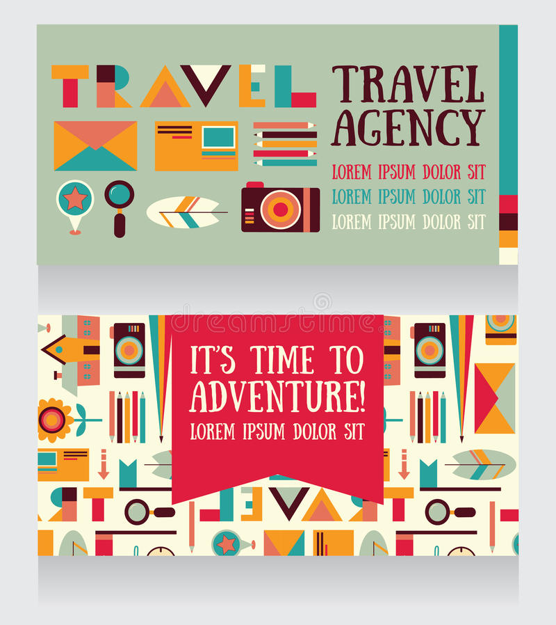 Two Banners For Tourism And Travel Stock Vector - Illustration of ...