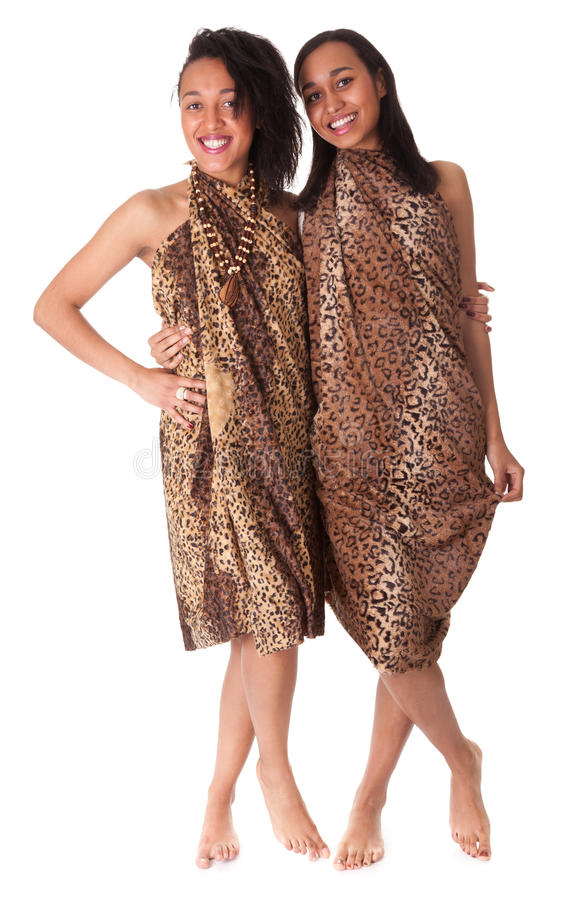 Download Two Barefoot Girls In Animal Print Stock Photo - Image of adult, ignorant: 24092572