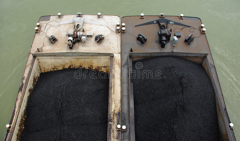 Two barges royalty free stock image