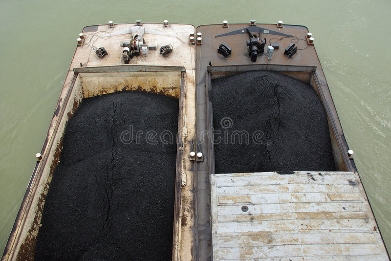 Two barges royalty free stock photos