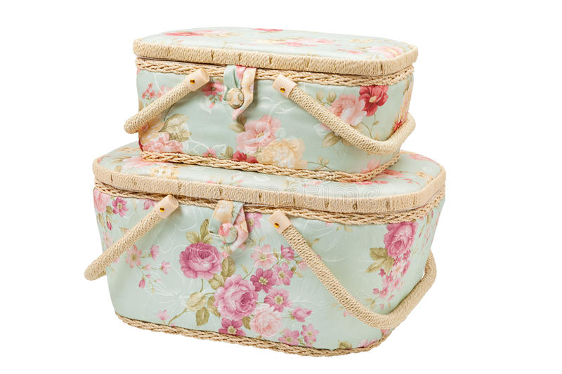 Download Two Baskets For Storage Of Accessories For Sewing Stock Image - Image: 28774241