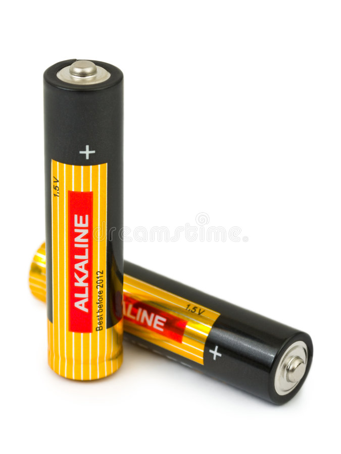 Free Two Batteries Royalty Free Stock Photos - 8252738