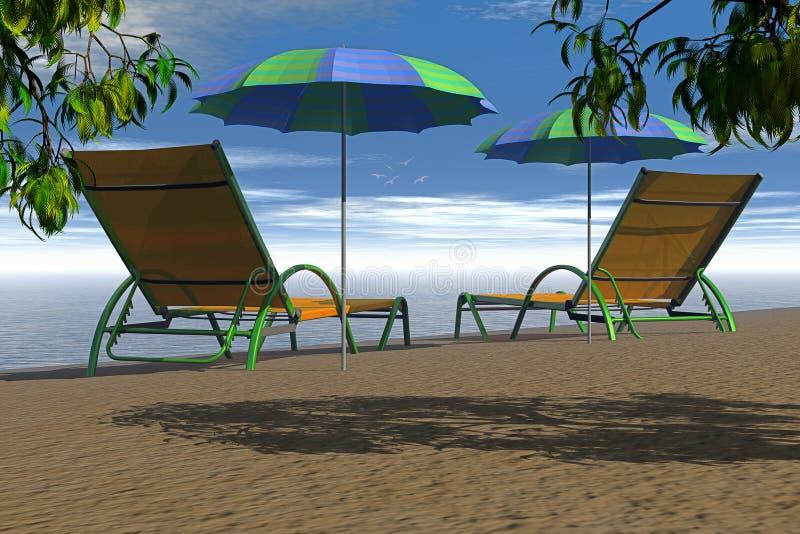 Two beach chair