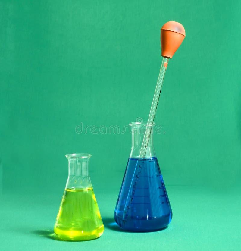 Download Two beakers stock photo. Image of acid, biochemistry - 10838586