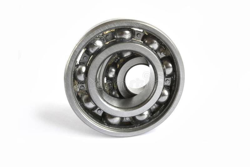Two bearings. On the white background stock photography