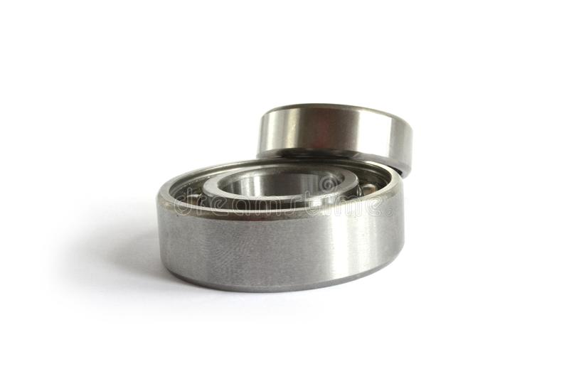 Two bearings. On the white background stock photos