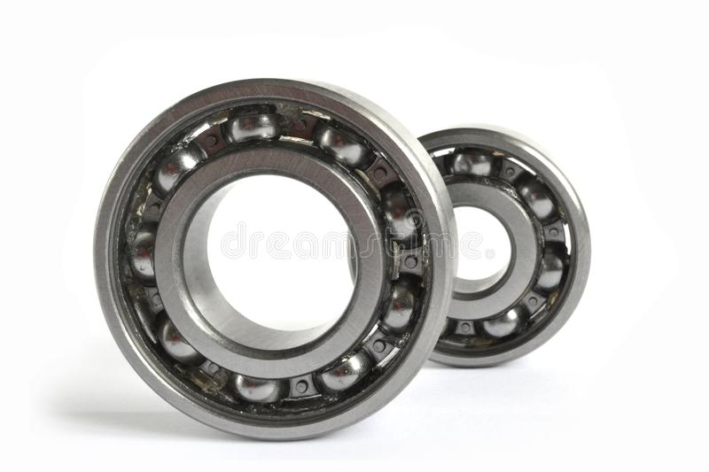 Two bearings. On the white background royalty free stock photography