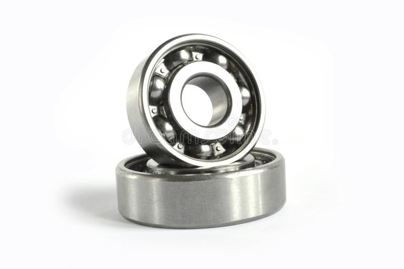Two bearings. On the white background stock image