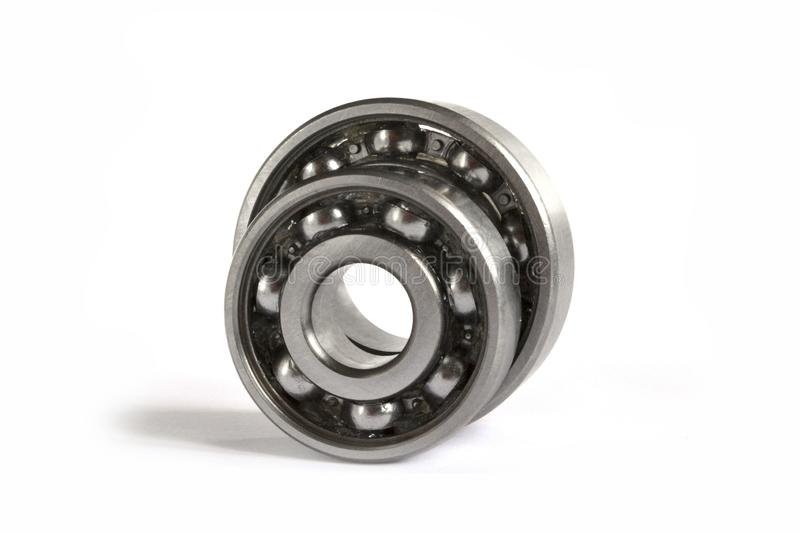 Two bearings. On the white background stock images