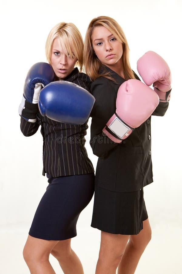 Two Beautiful Caucasian Business Women Royalty Free Stock Photo
