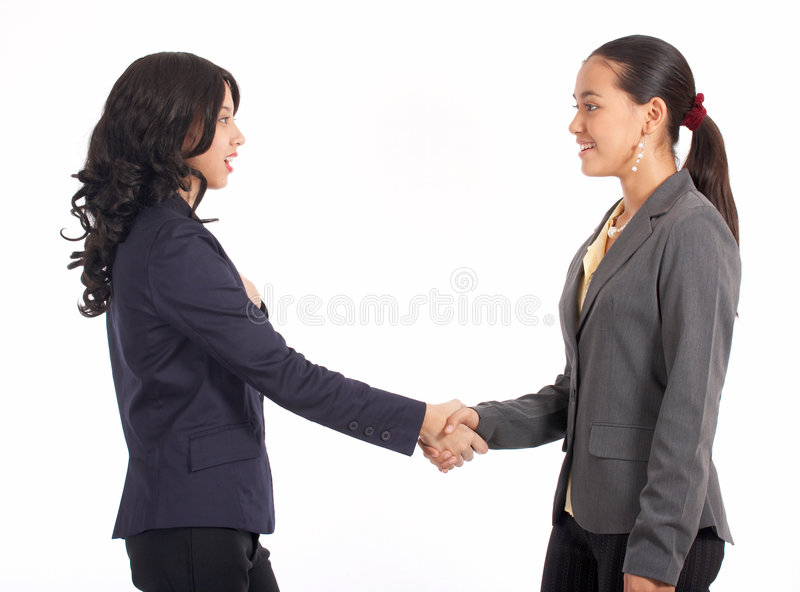 Two Beautiful Colleague Royalty Free Stock Image
