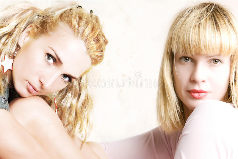 Two beautiful girls royalty free stock images