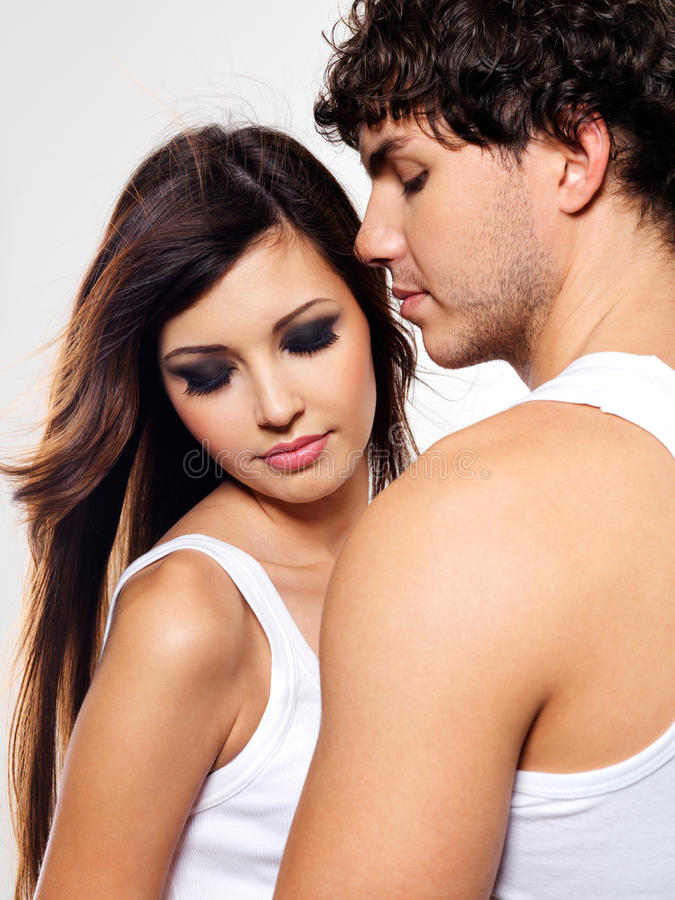 Download Two beautiful lovers stock photo. Image of affectionate - 12136574