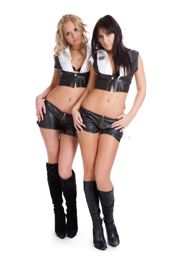 Two beautiful sexual girl royalty free stock photo