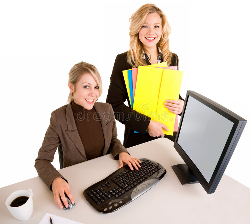 Two Beautiful Smiling Businesswomen stock photography