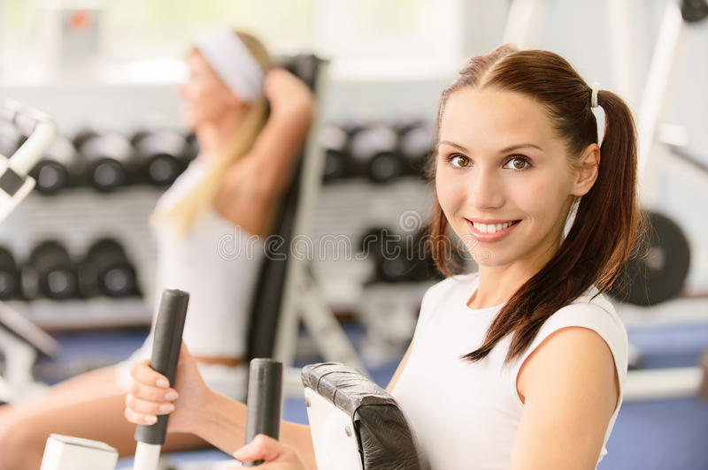 Two Beautiful Sportwomen Make Stock Photography