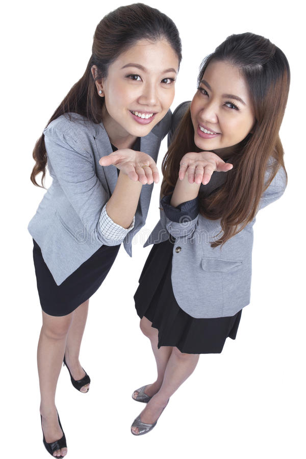 Two beauty businesswomen royalty free stock photography