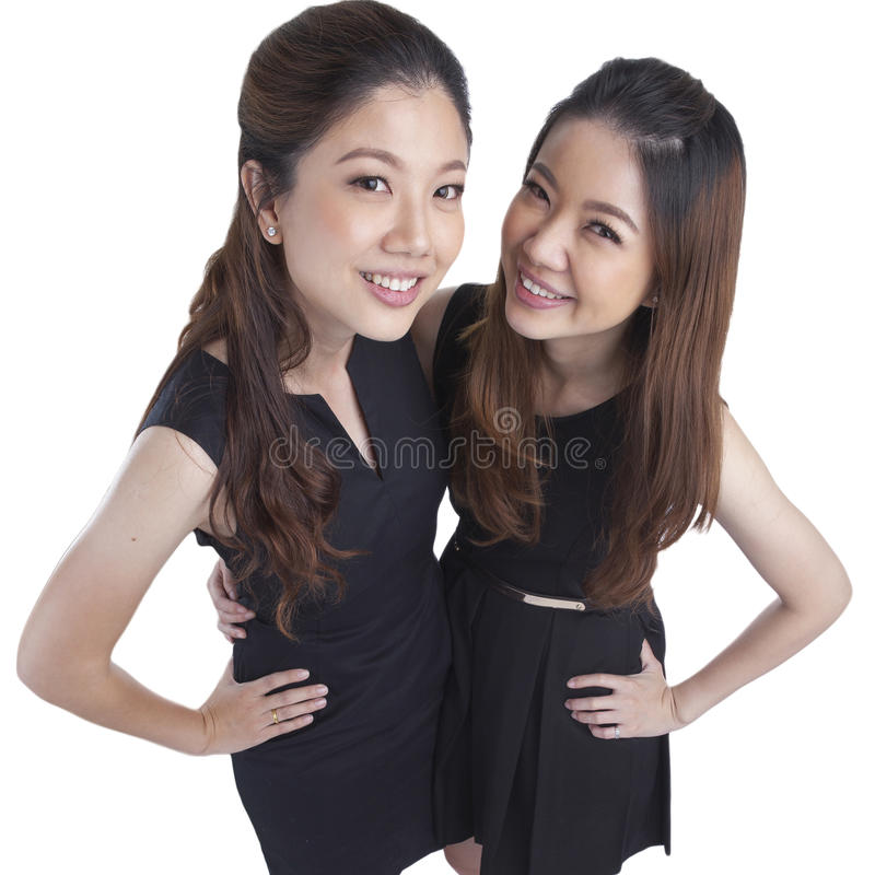 Two beauty businesswomen stock images