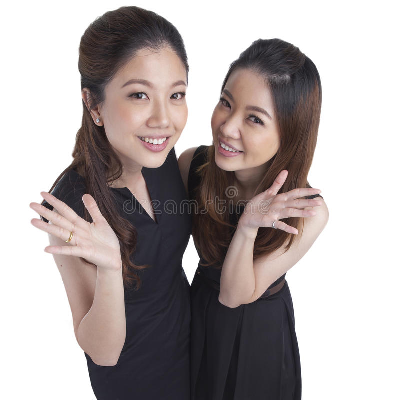 Two beauty businesswomen stock photo
