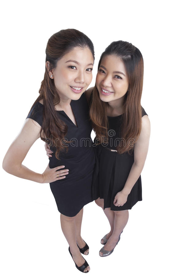 Two beauty businesswomen royalty free stock photos