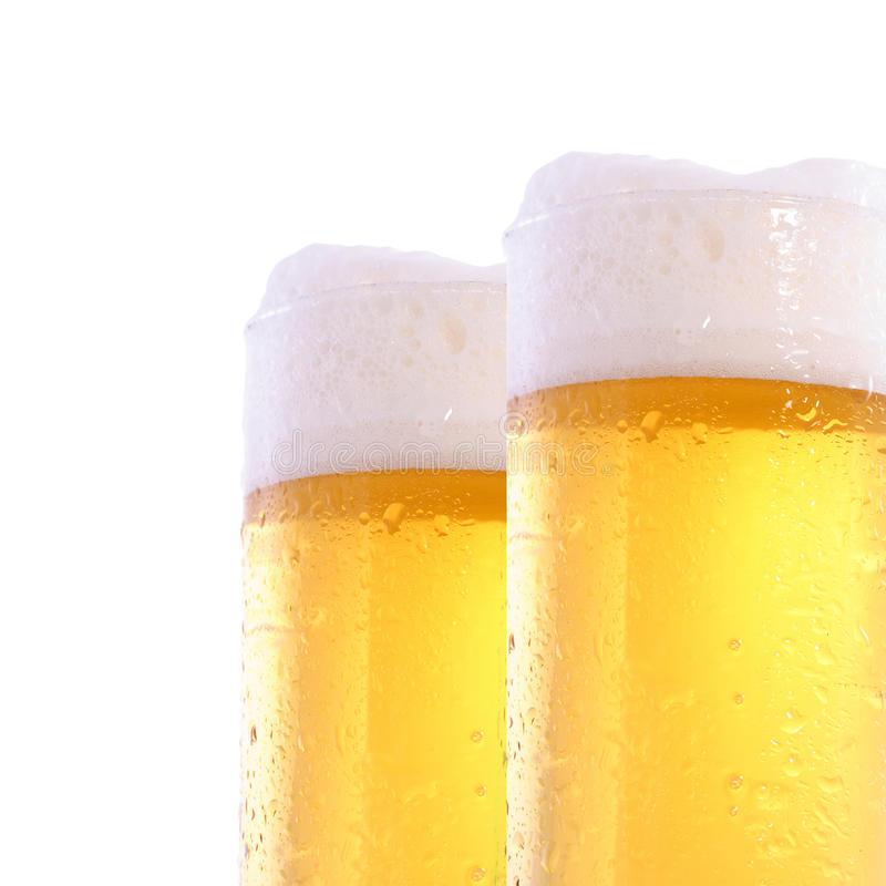 Free Two Beer Glasses Royalty Free Stock Photos - 9572338