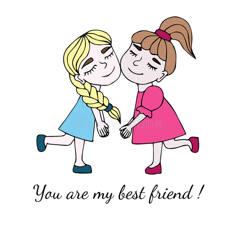Two Best Friends ther With Inscription You Are My Best Frien ...