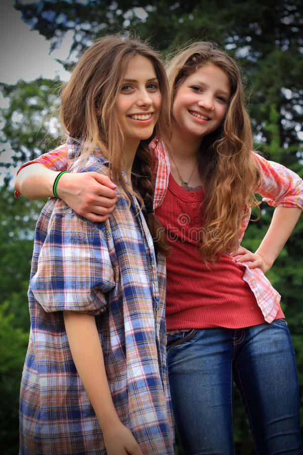 Two BFF Girls royalty free stock images
