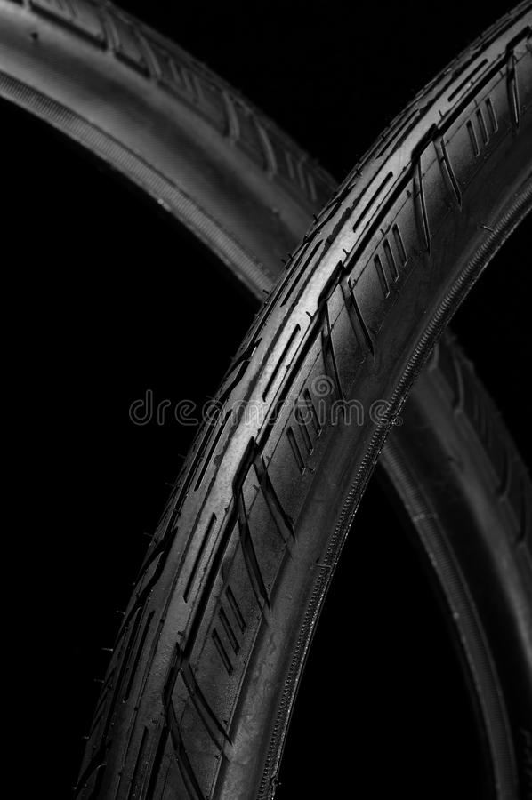 Two Bicycle Tires Stock Images