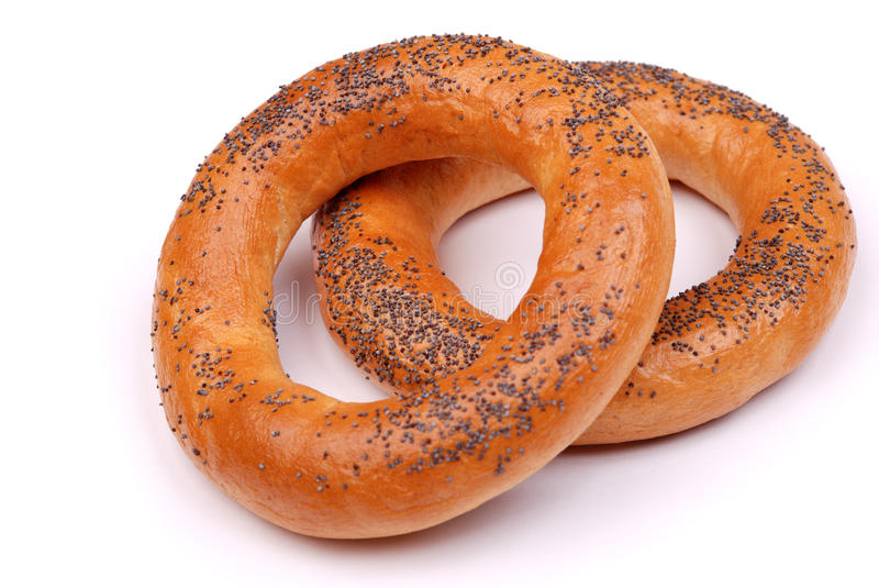 Download Two Big Bagels With A Poppy Stock Photo - Image: 10865250