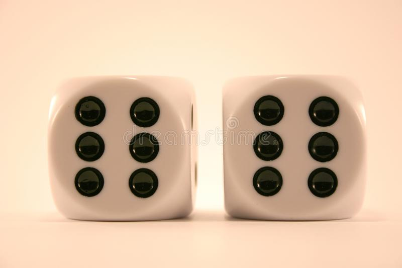 Download Two big dice stock image. Image of white, close, objects - 60025