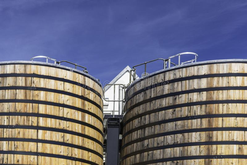 View of a whisky distillery stock photography