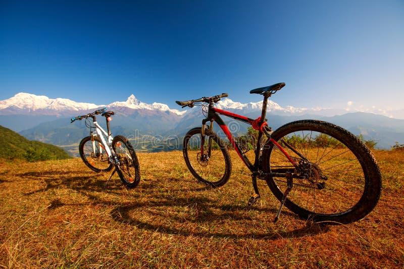 Two bikes stock photo