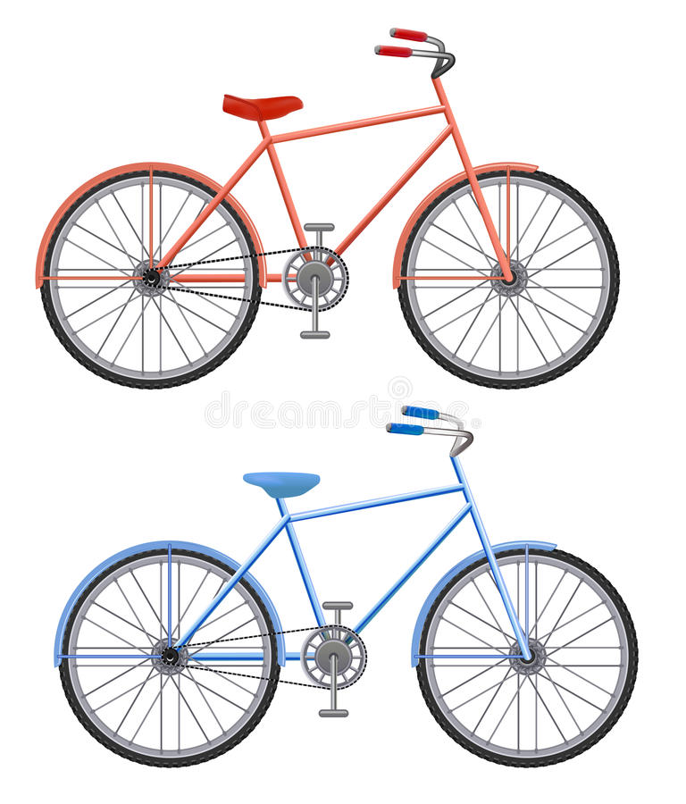 Two bikes on a white background. Illustration two bikes on a white background vector illustration