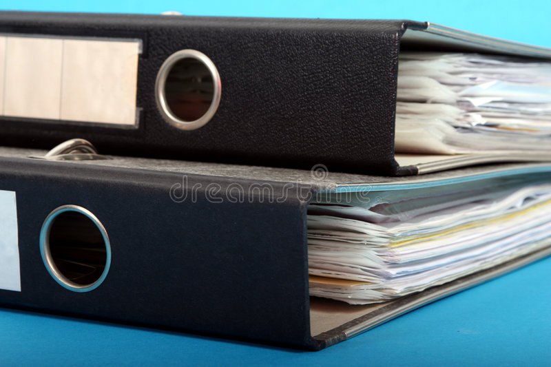 Two binders stock photos